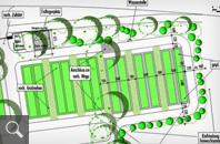 375   Entwurfsplan für die Grabfelderweiterung
