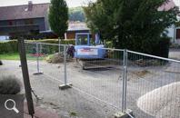 418 | Baubeginn mit der Kanalverlegung