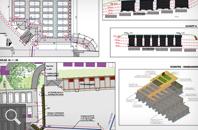 418 | Werkplanung mit Lage-/Höhenplan, Absteckplan, Schnitten und Details