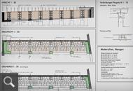 168 | Erstellung einer Urnenpergola bei der Aussegnungshalle - Werkplan, Fertigstellungsfoto