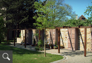 259 | Friedhofserweiterung - Fotos der Urnenpergola an der westlichen Einfriedigungsmauer